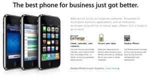 ความสามารถในการเชื่อมต่อกับ Microsoft Exchange Server เป็นความสามารถหลักของ iPhone อยู่แล้ว