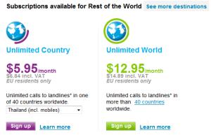 ค่าบริการแบบ Unlimited call อยู่ที่ $5.95 หรือประมาณ 170 บาท เท่านั้นเอง