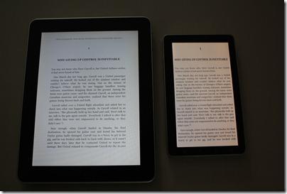 เทียบ Kindle บน iPad และ Kindle บน Wellcom A800