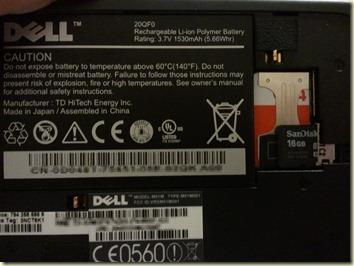 เปิดฝา Dell Streak ออก