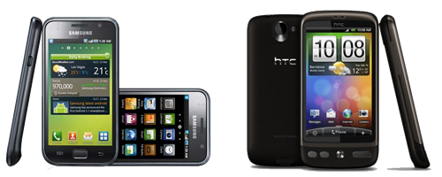 Samsung Galaxy S vs HTC Desire