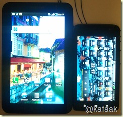 (ซ้าย) Samsung Galaxy Tab (ขวา) Dell Streak