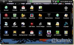 หน้าจอ Application Menu แสดง Apps ทั้งหมดที่มี