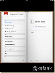 Contact บน iPad