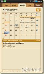 Calendar บน Galaxy Tab