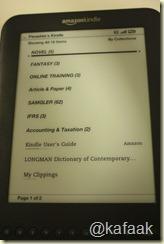 หน้า Home ของ Kindle 3