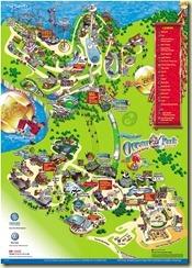 แผนที่ Ocean Park ช่วงตรุษจีนปี 2554