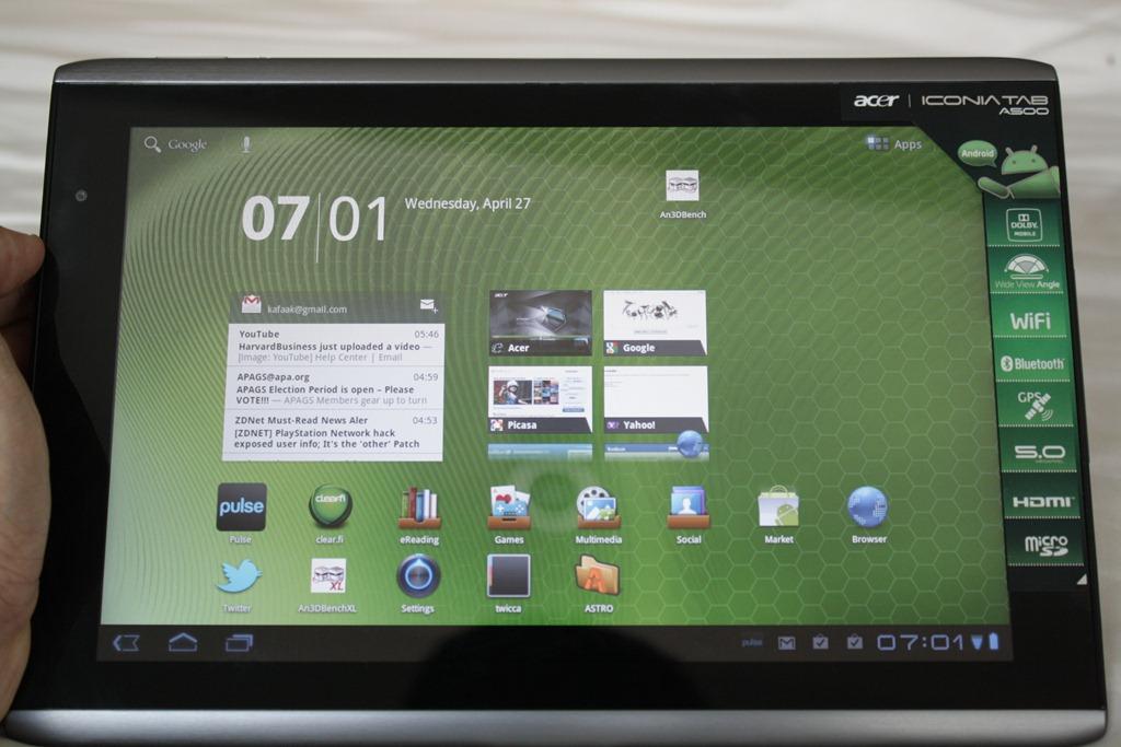Top Three Ways to Screenshot Acer Tablet